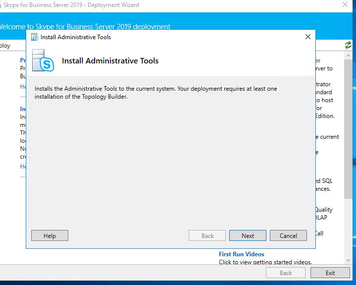 Install Admin TOols