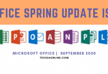 Office September 2020 Updates